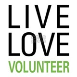 Live Love Volunteer Framed Tile