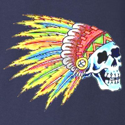 Indian Chief Skull Tattoo (Front) T