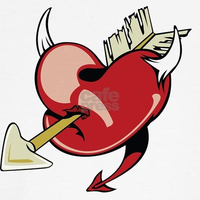 emo tattoo designs. Arrow Thru Heart Tattoo Design