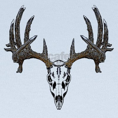 Whitetail deer skull baby hat
