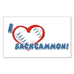 Backgammon Rectangle Sticker