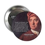 """David Hume Philosophy 2.25"""" Button (100 pack)"""