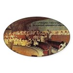 Cicero: Philosophy Religion Oval Sticker