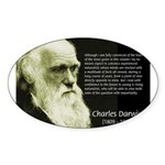 Charles Darwin: Science Oval Sticker
