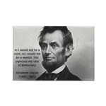 President Abraham Lincoln Rectangle Magnet (100 pa