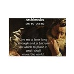 Greek Mathematician: Archimedes Rectangle Magnet (