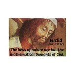 Euclid: Math and Philosophy Rectangle Magnet