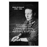 Simone De Beauvoir Large Poster