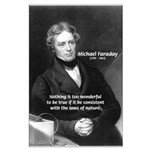 Michael Faraday Large Poster