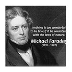 Michael Faraday Tile Coaster