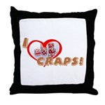 Craps Throw Pillow