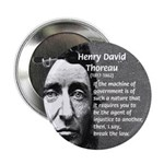 "Philosophy / Nature: Thoreau 2.25"" Button (10 pack"