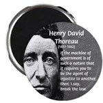 "Philosophy / Nature: Thoreau 2.25"" Magnet (10 pack"