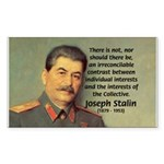 Joseph Stalin Rectangle Sticker