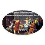 Truth and Wisdom: Socrates Oval Sticker