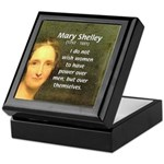 Novelist Mary Shelley Keepsake Box