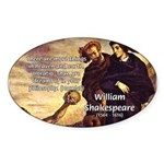 Tragedy of Hamlet Oval Sticker