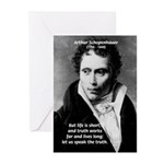 Schopenhauer Philosophy Truth Greeting Cards (Pack