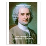 Philosopher Rousseau Small Poster