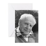 Philosophy Karl Popper Greeting Cards (Package of