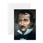 Writer Edgar Allan Poe Greeting Cards (Package of
