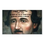 Writer Edgar Allan Poe Rectangle Sticker
