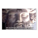 Plato: Wisdom Knowledge Play Rectangle Sticker