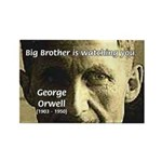 Orwell Big Brother 1984 Rectangle Magnet