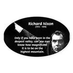 Motivation Richard Nixon Oval Sticker