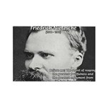 Nietzsche: Live Dangerously Rectangle Magnet (10 p