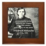 Critic of Religion: Nietzsche Framed Tile