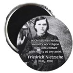 "Critic of Religion: Nietzsche 2.25"" Magnet (100 pa"