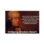 Mozart's Work: Symphony, Piano Rectangle Magnet (1