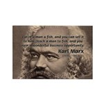 History Analyst Karl Marx Rectangle Magnet