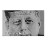 Power of the Idea JFK Rectangle Sticker