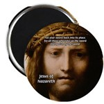 """Jesus Peace and Love 2.25"""" Magnet (100 pack)"""