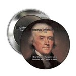 """Work and Luck Jefferson 2.25"""" Button (100 pack)"""