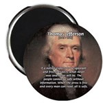 "Media Thomas Jefferson 2.25"" Magnet (100 pack)"