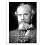 William James Life and Change Small Poster