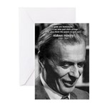 Mysticism Aldous Huxley Greeting Cards (Package of