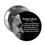 "Inventor Thomas Edison 2.25"" Button (100 pack)"