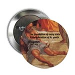 """Cynic Philosophy Diogenes 2.25"""" Button (100 pack)"""