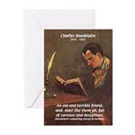 French Poets Baudelaire Greeting Cards (Package of