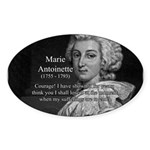 Courage Marie Antoinette Oval Sticker