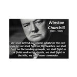 World War 2 Churchill Rectangle Magnet (100 pack)