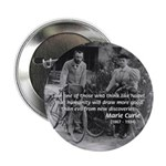 "Marie & Pierre Curie Good Evil 2.25"" Button (100 p"
