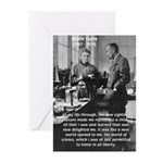 Marie Curie Physics Liberty Greeting Cards (Packag
