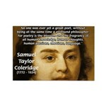 Samuel Taylor Coleridge Poet Rectangle Magnet (100