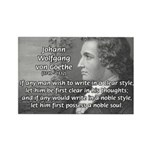 Goethe on Pure Thought Rectangle Magnet (100 pack)