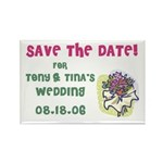 Save the Date Wed Rectangle Magnet (100 pack)